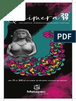 Programa Quimera Festival Arte y Cultura Metepec 2019