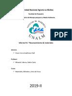 Inofrme de materiales, métodos y artes de pesca