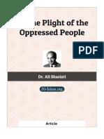 On the plight of oppressed people