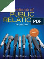 Handbook of Public Relations, 10E by Chris Skinner