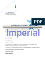 Imperial Oil Limited Canada Contract Terms