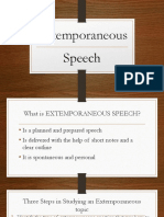 Extemporaneous Speech