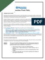 Hazardous Waste Policy