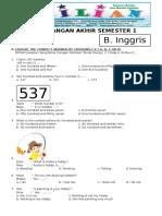 Soal UAS Bahasa Inggris Kelas 4 SD Semester 1 (Ganjil) Dan Kunci Jawaban (www.bimbelbrilian.com) .pdf