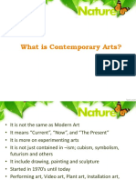 Lesson 1- Introduction to Contemporary Arts