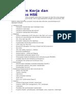 Program Kerja Dan Aktivitas HSE