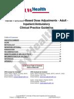 Renal Function Based Dose Adjustments Adult Inpatient.ambulatory 17.06.27