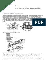 Permanent-magnet Starter Motor (Automobile)