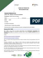 Fichatrabalho n. 14 Ta -Normas Iso 14000