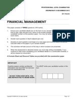 Financial Management 2015 December Question