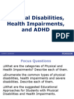 Physical Disabilities Health Impairments