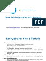 Green Belt Project Storyboard v2.0 Template GoLeanSixSigma.com