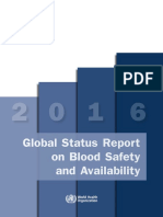 WHO Global Status Report on Blood Safety and Availability 2016