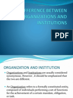 Difference Between Organizations and Institutions
