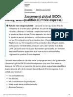Système de Classement Global (SCG) _ Immigrants Qualifiés (Entrée Express)