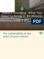 Fundamentals of Impact Investing - A Finance Matters Workshop - October 2014