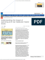 Understanding the Impact of Operating With Low Feedwater Heater Levels - Energy