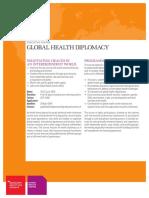 Brochure Global Health Diplomacy 2018