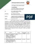 INFORME N°   2018 VERIFICACION Y CONFORMIDAD DE BIENES INFRAESTRUCTURA