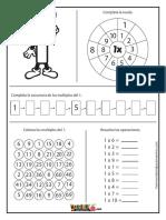 Tablas de Multiplicar - Fichas