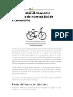 Cómo Ajustar El Desviador Delantero de Nuestra Bici de Cicloturismo