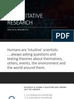 Practical Research II - Week 1