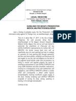 Legal Medicine Case 4 Medical Malpractice Guidelines