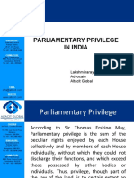 Parliamentary privileges in India