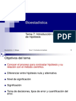 Bioestadistica Introduccion Hipotesis