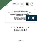 IV Jornadas de Trabajo Sobre Exilios Políticos en El Cono Sur Livro Resumos