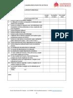 Lista Cotejo Corrección de Planos Proyecto 1