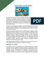 Planeta Azul en Peligro Informacion