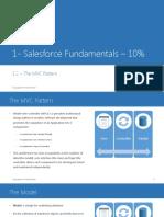 1.2 Salesforce Fundamentals the MVC Pattern