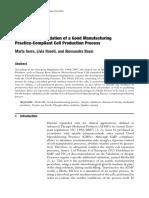 Media Fill for Validation of a Good Manufacturing - ARTIGO