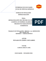 Sistematización del proceso industrial y logística de las empresas de cosmética y farmacéutica