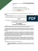 I.3 Ley de Desarrollo Rural Sustentable