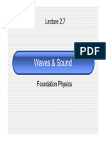 Lecture2 7 Waves & Sound