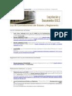 Historial de Leyes y Reglamentos - OSCE