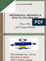 Ortografia Si Punctuatia Prin Joc Clasa III-a