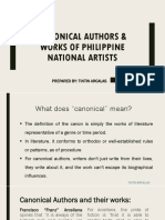 Canonical Authors Works of Philippine National Artists