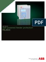 Self Powered feeder protection REJ603