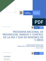 PROGRAMA NACIONAL DE PREVENCIÓN, MANEJO Y CONTROL DE IRA Y EDA