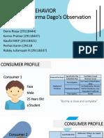 Consumer Purchasing Behavior - Fieldwork Assignment