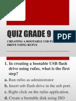 Quiz Grade 9 091919