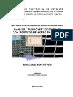 ANALISIS PUSH- OVER De edificios con porticos  de acero en bogota-colombia