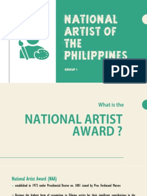 National Artist Award Philippines Sculpture