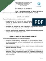 Regras Gerais - Cursos 2019