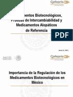 1. Dr. Juan Carlos Gallaga Biotecnológicos, Pruebas de Intercambiabilidad y Medicamentos de Referencia (JCGS).pptx