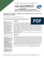 21-126-4-PB Investigação Da Resistência à Compressão e Da Resistividade Elétrica de Concretos Com