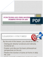 Lesson 3(Function of Art and Philosophy